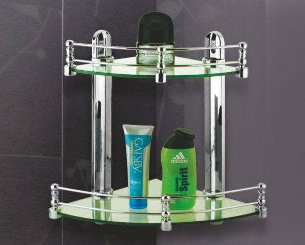 Double Glass Shelf Corner